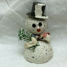 Vintage Snowman Spring Head Christmas Decoration