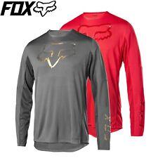 Fox FLEXAIR Delta™ Limited Edition Longsleeve Jersey | Grey, Red | M L XL