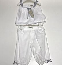 Armani Girls Kids New 2 Piece Babydoll Top w Bloomers Outfit Sz 24m Rtl $195 Q47