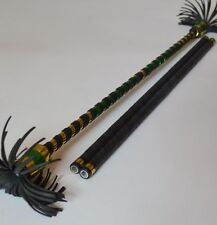 Alu Flower Stick gold/green Devil Sticks Stix Juggling Educational Toy