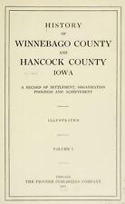 WINNEBAGO & HANCOCK County Iowa IA, History and Genealogy Ancestry DVD B38