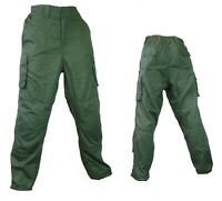 Qtech Race Motorcycle Motorbike Cargo Pants Jeans with Knee & Hip Armour - Green