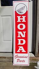 NEW! 1970's HONDA VERT. MOTORCYCLE DEALER/SERVICE SIGN/AD W/EARLY FEATHERED LOGO
