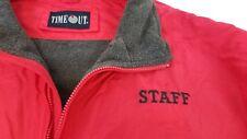 TimeOut Staff Sport Men's XXL Red with Gray Fleece Lined Nylon Jacket Rain Coat