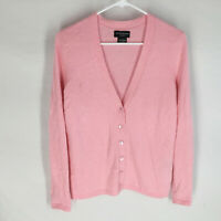 Sutton Studio 100% Cashmere Pink Cardigan Sweater Size Small Luxury Soft