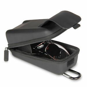 USA GEAR Hard Shell Glasses Case - Top Loading Rugged Hard Case with Belt Loop