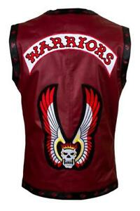 THE WARRIORS MOVIE REAL LEATHER VEST MOTORCYCLE RIDER HALLOWEEN COSTUME NEW