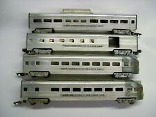 Lot of 4 American Flyer Aluminum Passenger Cars [Lot NN8-P12]