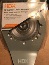 Hdx 03710stc1 6 In Universal Sink Drain Wrench Unique Patented Design Grip New