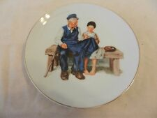 """1986 The Lighthouse Keeper's Daughter Norman Rockwell Collector Plate 6.625"""" (H1"""