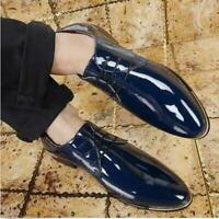 Men's Formal Business Casual Patent Leather Party Wedding Lace Up Dress Shoes @