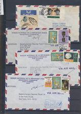 XC47873 Haiti 1963 to New York airmail covers used