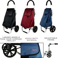 52L 2 rueda grande fuerte carrito de la compra Carrito de Compras Grocery Bolso Negro