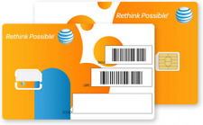 At&t Nano Sim Card for iPhone 5, 5c, 5s, 6, 6 Plus, 7, 8, X, and iPad 1-Pack