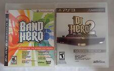 Playstation 3 PS3: 2 Game Lot - DJ Hero 2 and Band Hero