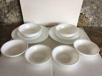 Corning Corelle Classic White Dinnerware 10 pc Plates & Bowls Vitrelle Tableware