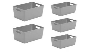 Wham Plastic Studio Basket Home Kitchen Bathroom Office Storage Boxes (4.02)