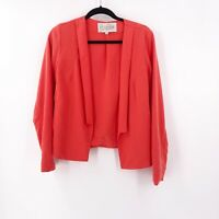 Rory Beca Womens Size Medium Jacket Blazer Coral Open Front Lightweight