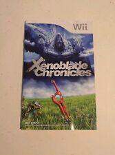 Xenoblade Chronicle Notice Du Jeu Instruction Booklet Nintendo Wii FRA