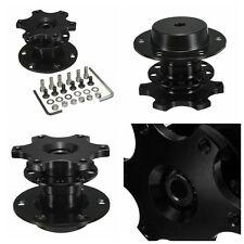 Universal Car Steering Wheel Quick Release Hub Adapter Snap Off Boss Set Black