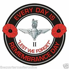 2nd Btn Parachute Regiment Remembrance Day Inside Car Window Clear Cling Sticker