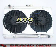 52MM Aluminum Radiator & Shroud & 2* Fans for Nissan Silvia S13 SR20DET Manual