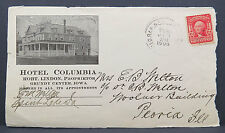 Hotel Columbia cachet 1906 con sello t606 (Lot 4514