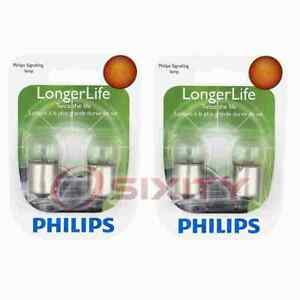 2 pc Philips Front Side Marker Light Bulbs for AM General Hummer 1992-2001 ch