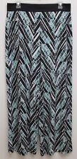 Alfani - M - Green/black multi abstract design elastic waist wide leg comfy pant