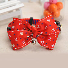 Dog Cat Pet Cute Bow Tie With Bell Adjustable Puppy Kitten Necktie Collar New