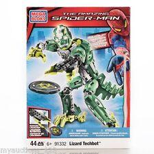 NEW Mega Bloks 91332 Amazing Spider-Man LIZARD TECHBOT Toy 44 Pieces