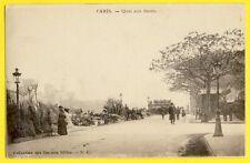 CPA Dos 1900 FRANCE 75 - PARIS Quai aux FLEURS Marché Market Flowers