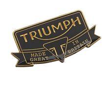 GENUINE TRIUMPH MOTORCYCLES PIN BADGE - HERITAGE METAL PIN BADGE GREAT GIFT IDEA