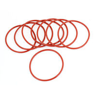 8 Pcs 68mm Outside Dia 2mm Thickness Industrial Rubber O Rings Seals