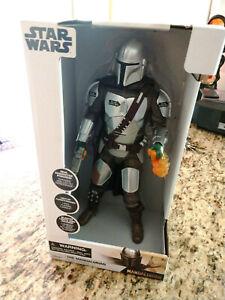 "Star Wars Disney StoreThe  Mandalorian 15"" Talking Action Figure - NIB"