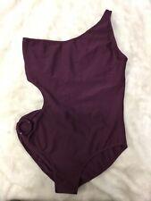 🦆 MIA MARCELLE Purple Onepiece Off Shoulder Swimsuit Size L