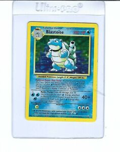 Blastoise Holo Base Set 2/102 Pokemon 1999 NM