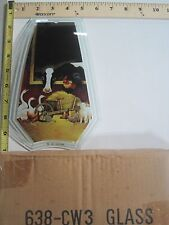 FREE US SHIP OK Touch Lamp Replacement Glass Panel Cow Barn Animals 638-CW3