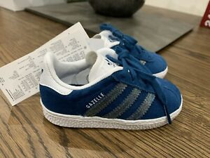 Adidas Gazelle Toddler Infant Trainers Metalic Suede Size 5
