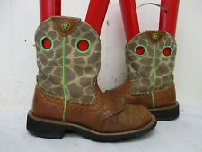 ARIAT FATBABY Brown Leather Short Cowboy Boots Womens Size 5.5 B Style 10009505
