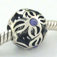 Authentic Chamilia Pinwheel Lilac Crystal Bead Charm, 2025-0831, New