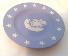 WEDGWOOD COLLECTORS SOCIETY PAUL REVERE JASPERWARE BLUE WHITE STARS  PLATE  EC