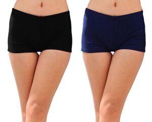 New Women Ladies Swimwear Plain Shorts Brief Underwear Bottom Bikini Swimming UK