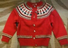 Vintage 40's kids sweater with people