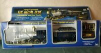 New Bright The Royal Blue Battery Operated Locomotive and Coal Tender Train