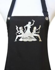 "Hair Stylist Apron ""HAIR DIVA"" black hairdresser salon waterproof silver new"