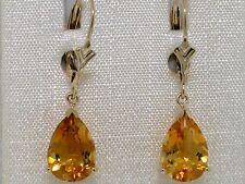 Citrin Ohrhänger 585 Gelbgold 14Kt Gold natürliche Citrine