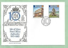 Isle of Man IOM First Day Cover FDC 1983 10th Anniversary Post Office Authority