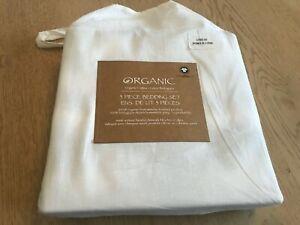 GOTS 100% Organic cotton 3 piece duvet bedding set New!