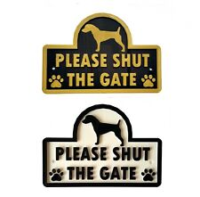 Jack Russell - Please Shut The Gate - 3D Dog Plaque  House Garden Door Wall Sign